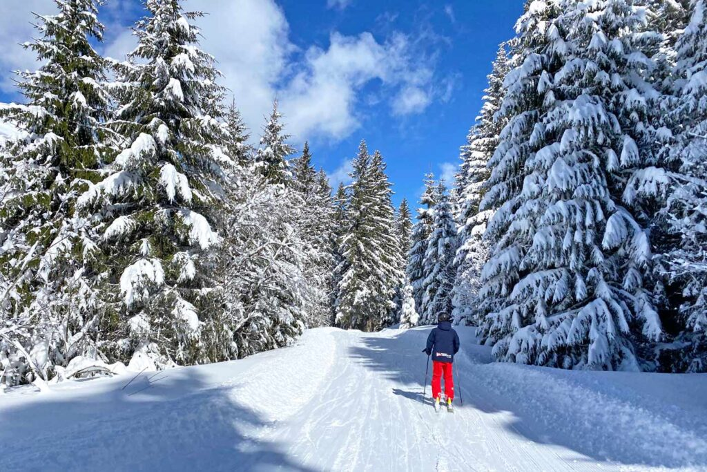 Wintersport in december met veel sneeuw