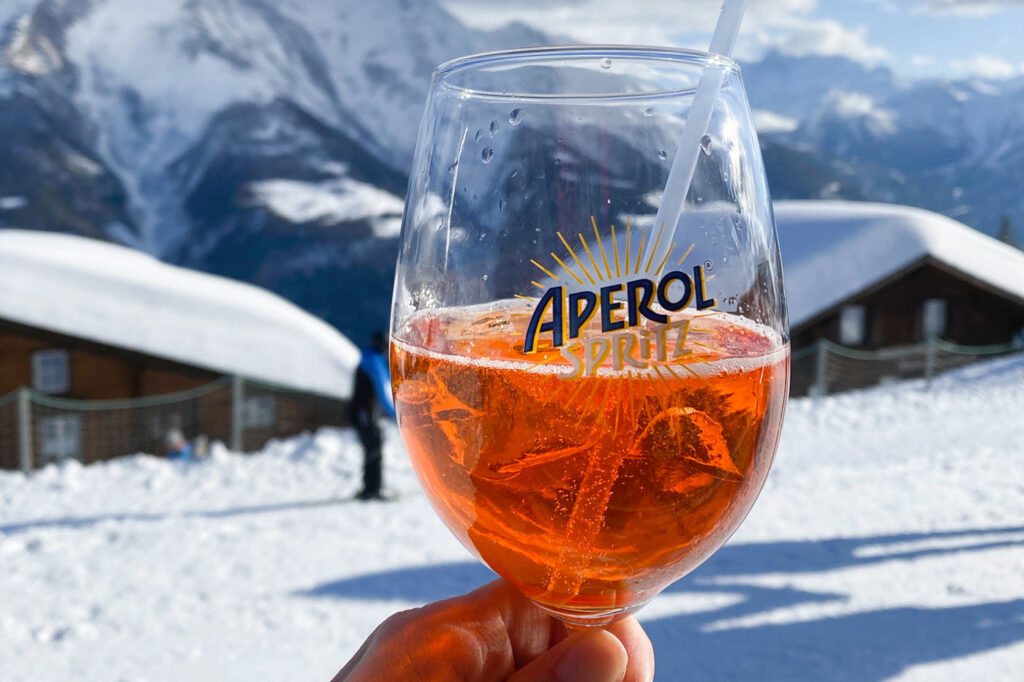 Aperol Spritz drankjes piste