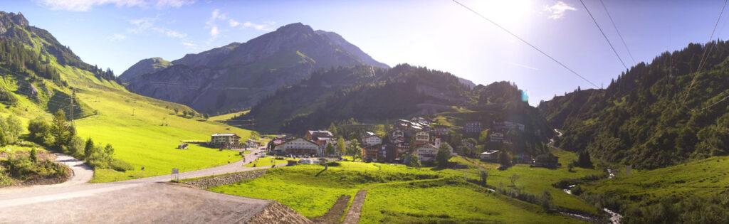 Stuben am arlberg zomer
