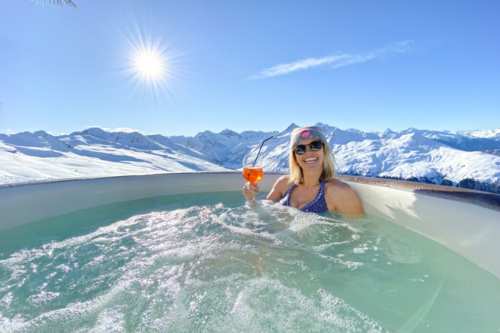 Jacuzzi wintersport in skigebied
