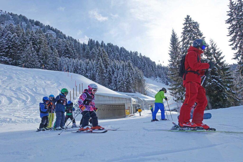 Skiles kindvriendelijke skigebieden Oberstdorf Kleinwalsertal