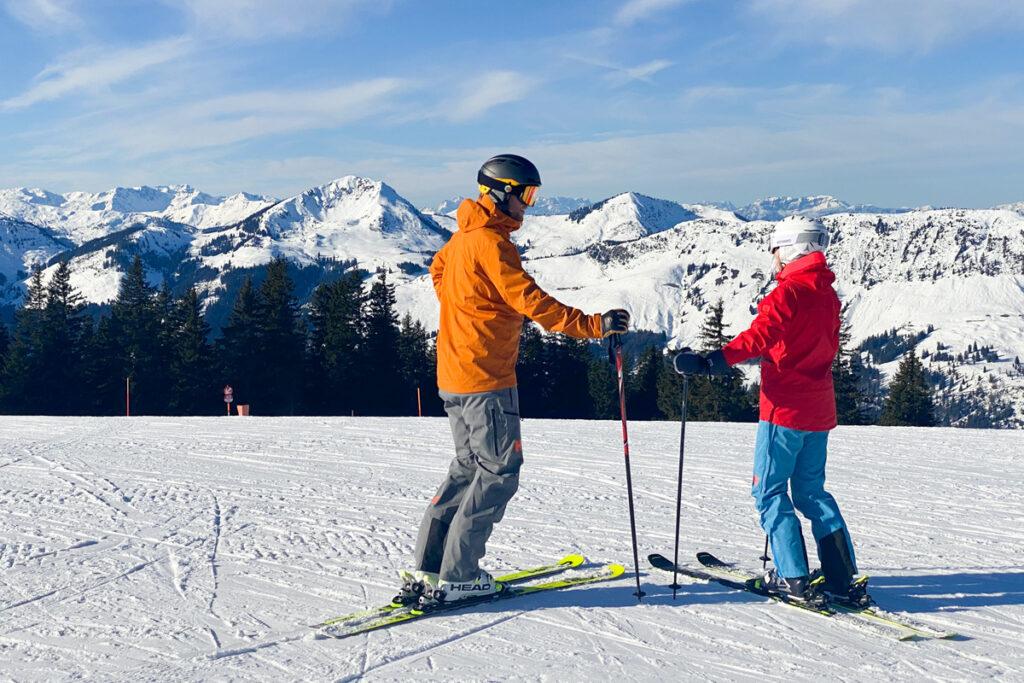 Wintersport in Kirchberg in januari 2022