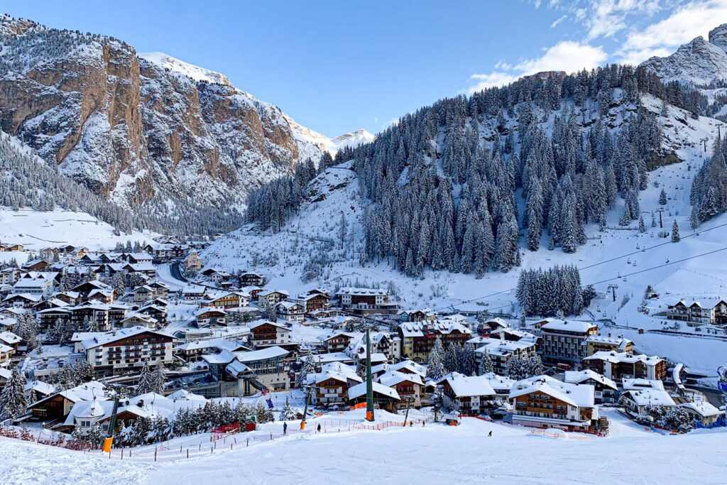 Wintersport in Val Gardena in maart