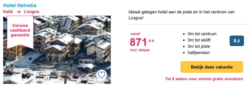 Hotel Helvetia Livigno