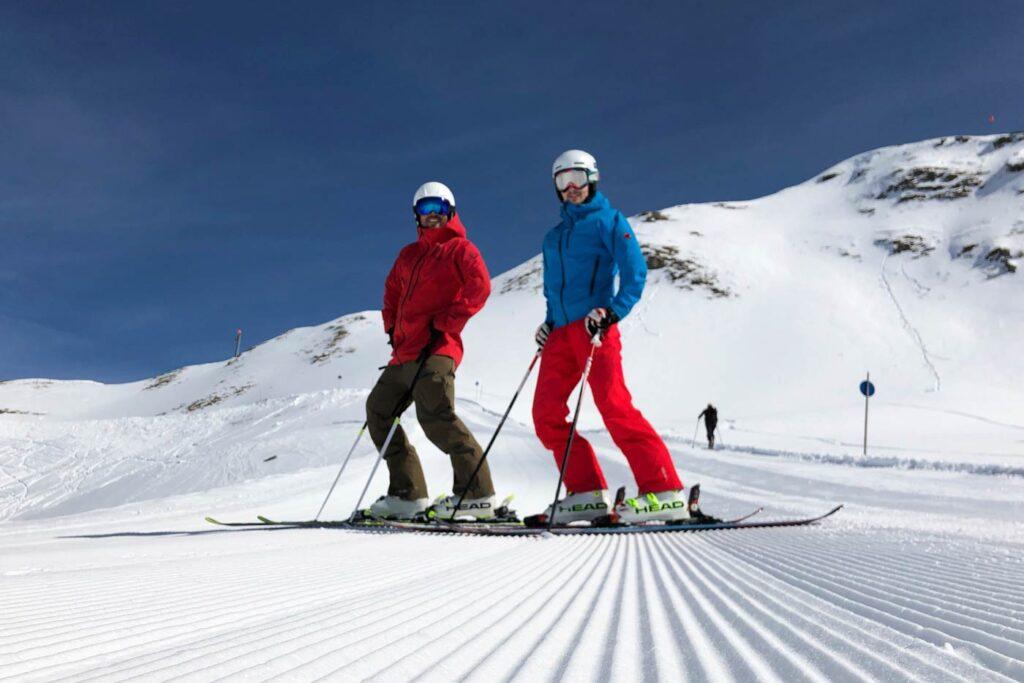 Skiën op een ribbelpiste