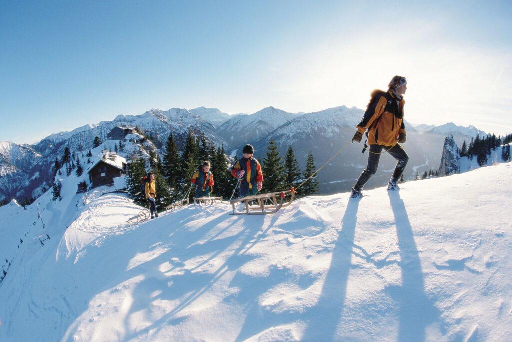 Rodelen in de Ammergauer Alpen