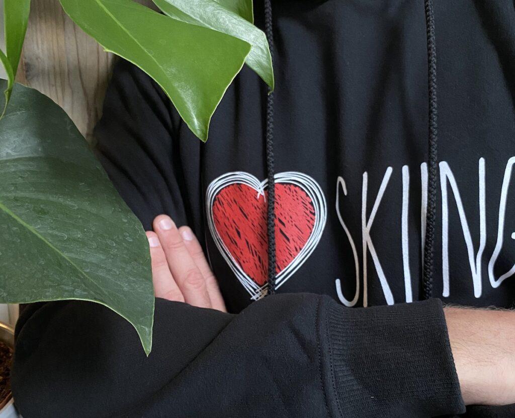 I Love Skiing trui verjaardagscadeautjes wintersporters