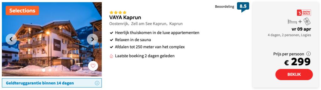 Wintersportvakantie Kaprun via Sunweb