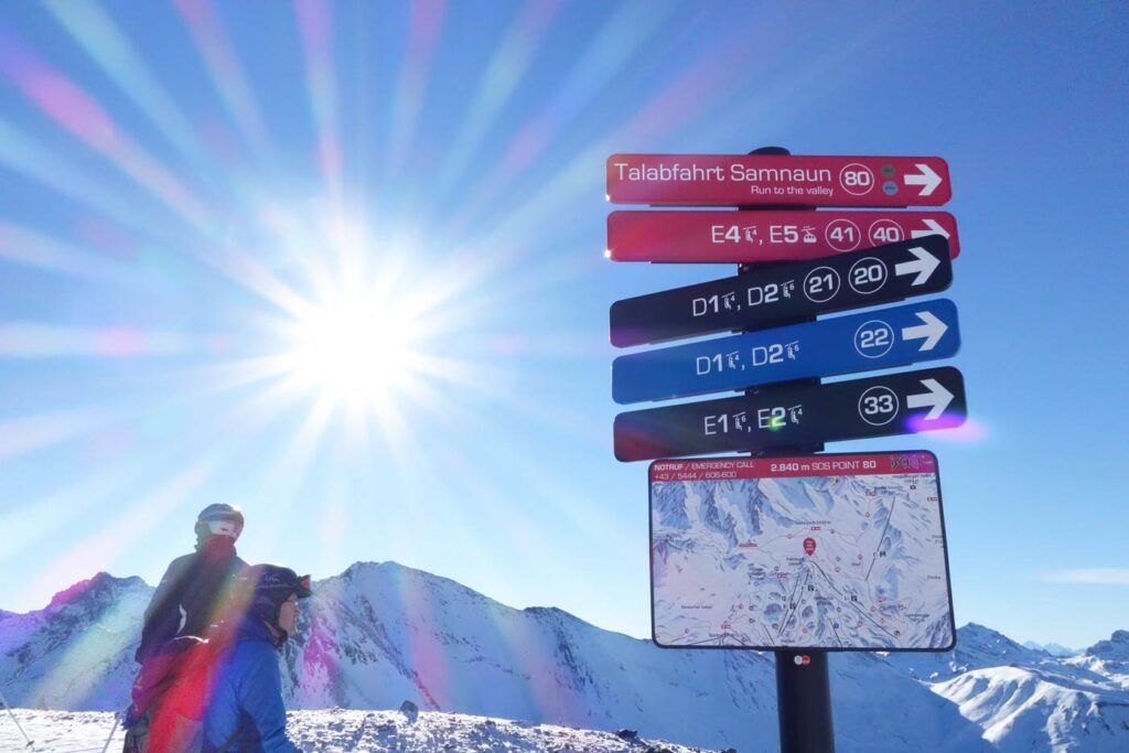 Belastingvrij shoppen wintersport Samnaun