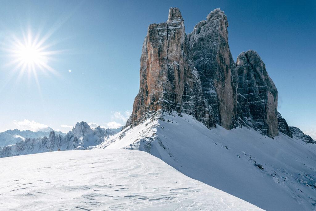 Skigebieden zonder gondels in 3 Zinnen Dolomites