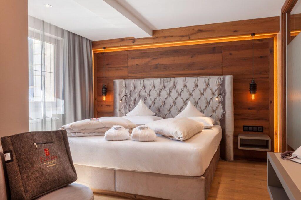 Luxe slaapkamer Hotel Platzer