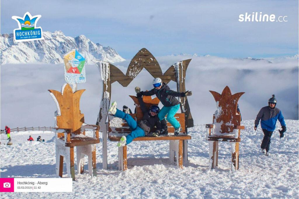 photopoint tijdens skiën beste pistes skigebied Hochkönig