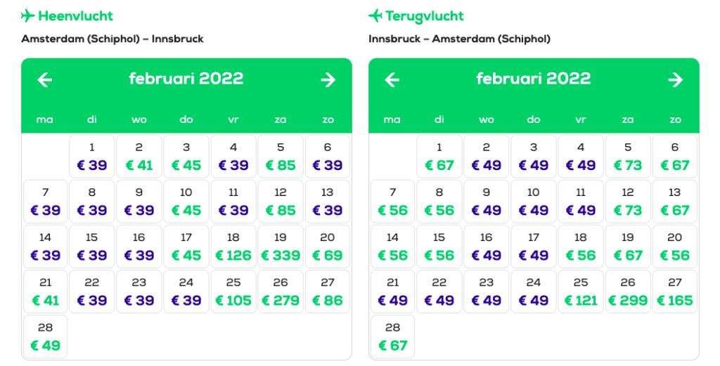 Goedkope vliegtickets wintersport Transavia naar Innsbruck