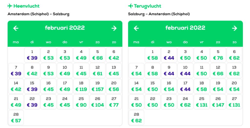 Goedkope vliegtickets wintersport Transavia naar Salzburg