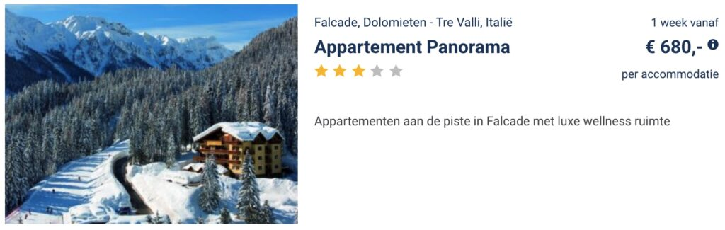 deal wintersport februari 2022 in Falcade Italië