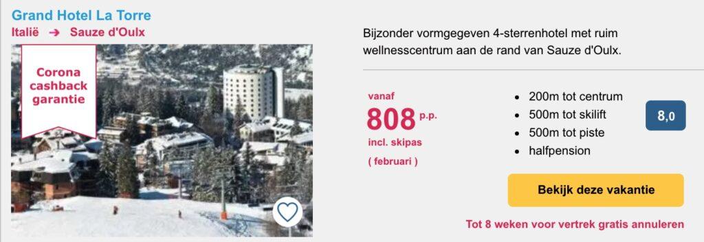 deals wintersport februari 2022 Sauze d'Oulx