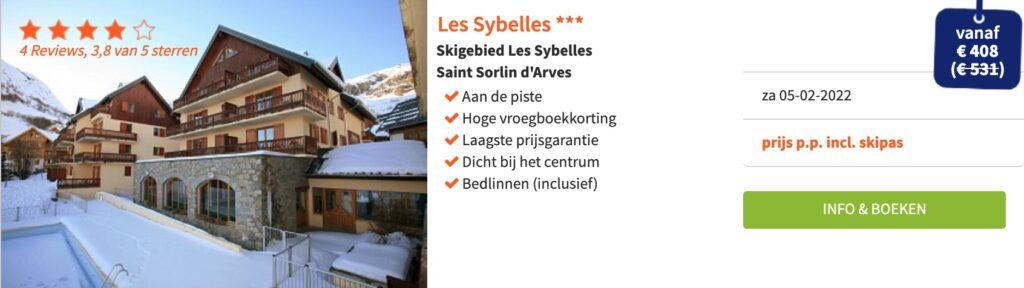 deals wintersport februari 2022 Les Sybelles