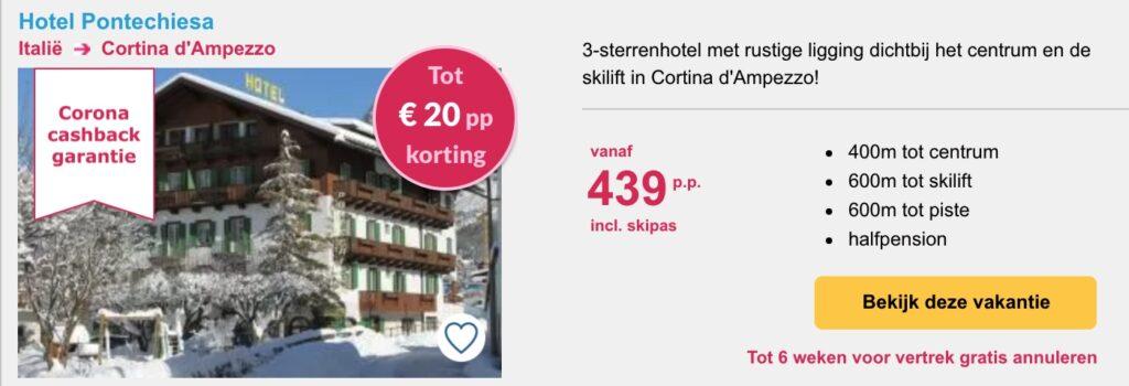deal Hotel Pontechiesa wintersport in Cortina d'Ampezzo