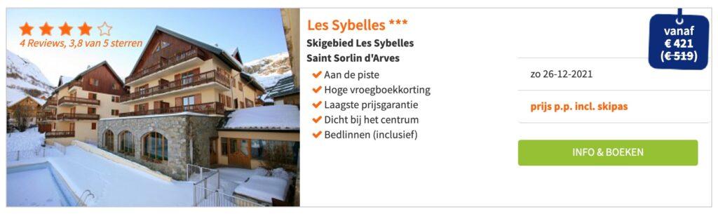 Aanbieding Les Sybelles*** wintersport kerstvakantie