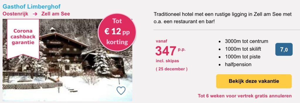 Aanbieding Gasthof Limberghof wintersport kerstvakantie