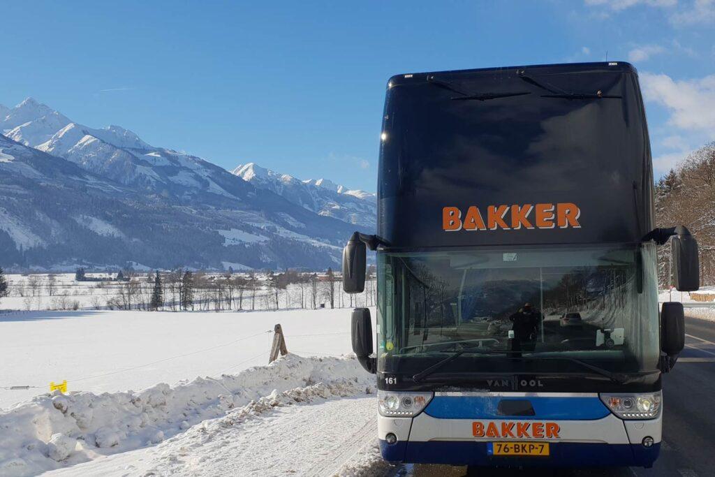 Bus op wintersport