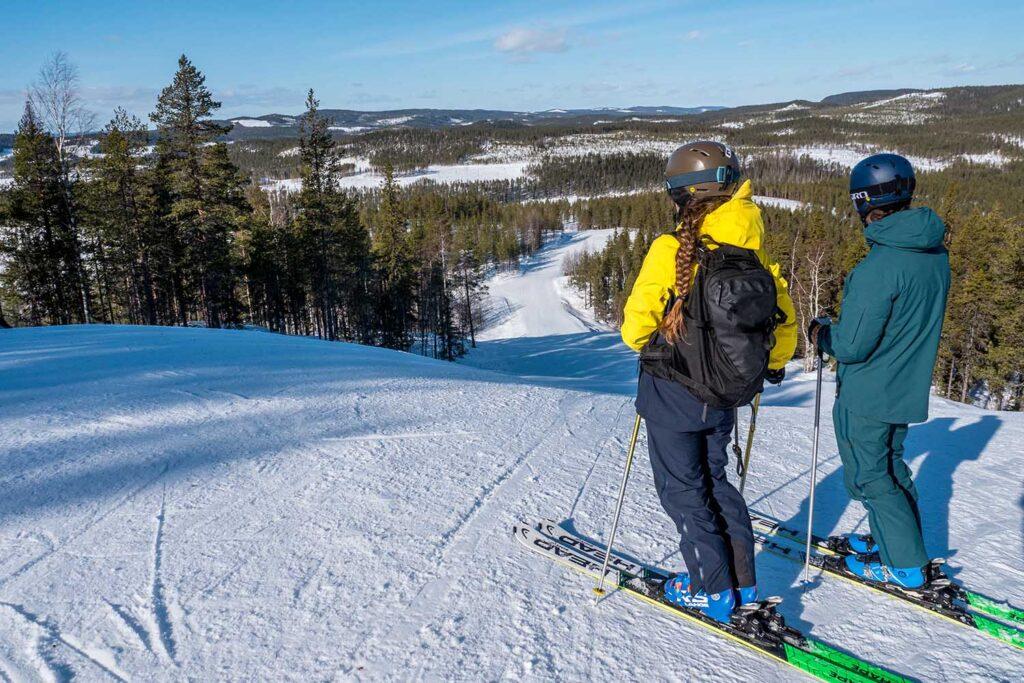 Uitzicht tijdens skiën in Lapland